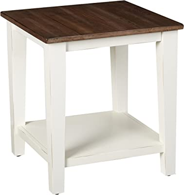 Lane Home Furnishings End Table, Greige White