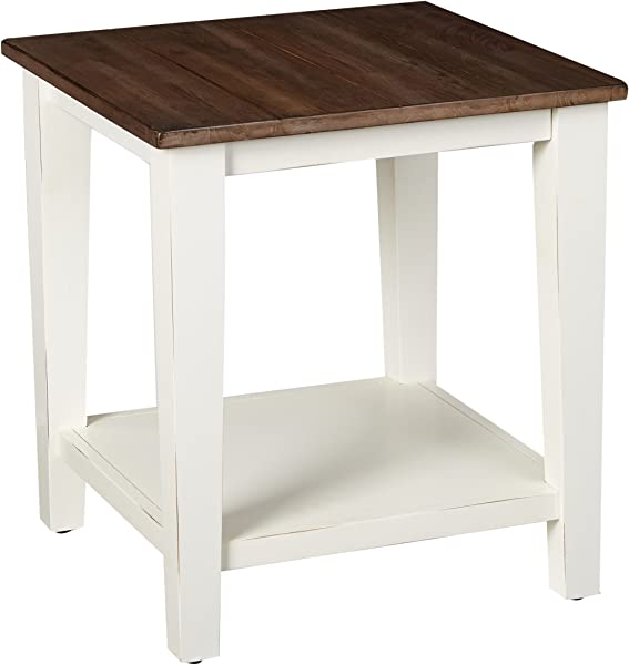 Simmons Casegoods 7557 47 End Table Greige White