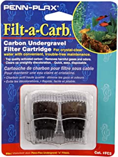 Penn-Plax Filt-a-Carb Replacement Activated Carbon Media Cartridges (2 Pack) – Provides Chemical Filtration to Freshwater ...