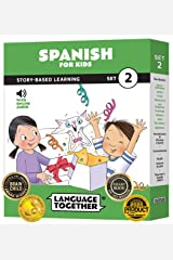 Spanish for Kids Set 2: 10 Beginning Spanish Reader Books with 100 More First Words and Online Audio by Language Together Paperback