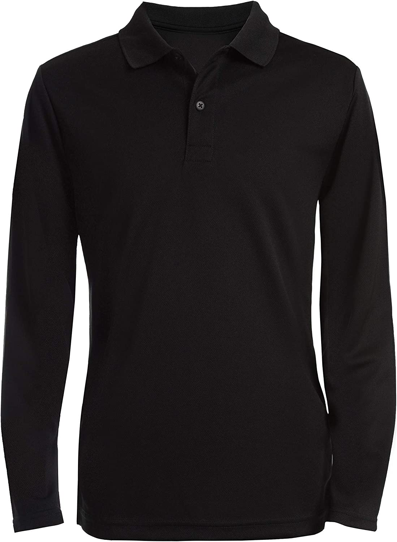 Nautica Boys School Uniform Long Sleeve Polo