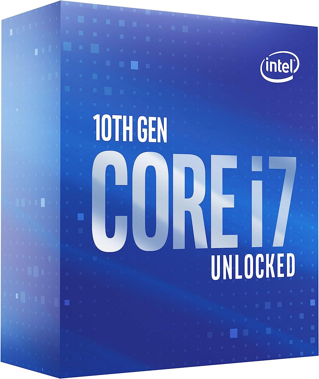 Intel Core i7-10700K - Procesador de sobremesa (8 núcleos hasta 5,1 GHz Desbloqueado LGA1200 (Intel 400 Series Chipset) 125W (BX8070110700K)