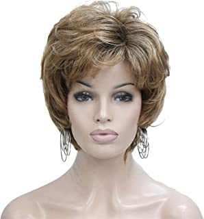 Lydell Short Layered Mix Color Brown Wig Fluffy Synthetic Wig Wigs