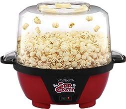 West Bend 82505 Stir Crazy Electric Hot Oil Popcorn Popper Machine Offers Large Lid for Serving Bowl and Convenient Storag...