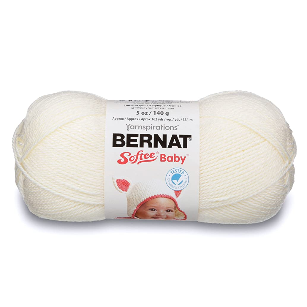 Bernat Softee Baby Yarn, 5 oz, Gauge 3 Light, Antique White