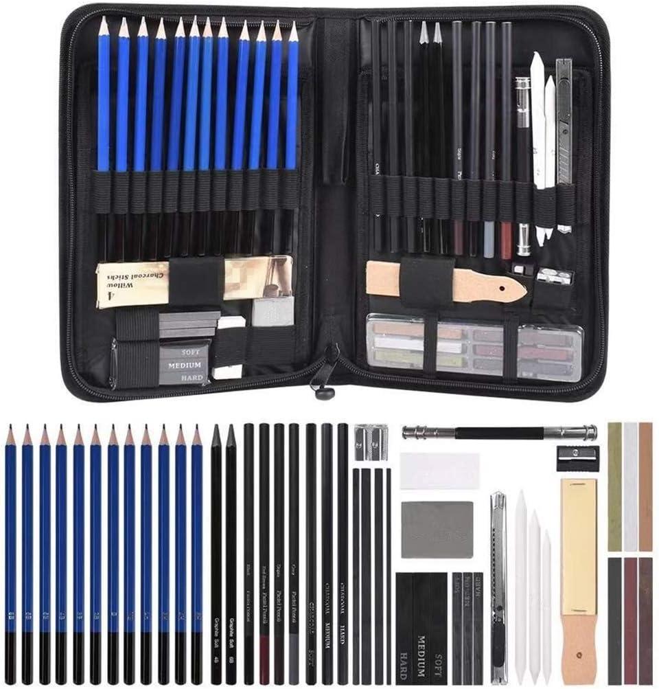HELYZQ 48pcs Drawing Attention brand Sketch Pencils Pencil C Charcoal Eraser Albuquerque Mall Art