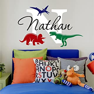 personalised dinosaur wall stickers