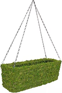 "SuperMoss (29350) MossWeave -Hanging Window Box Planter, Fresh Green, 22 with Chain"""