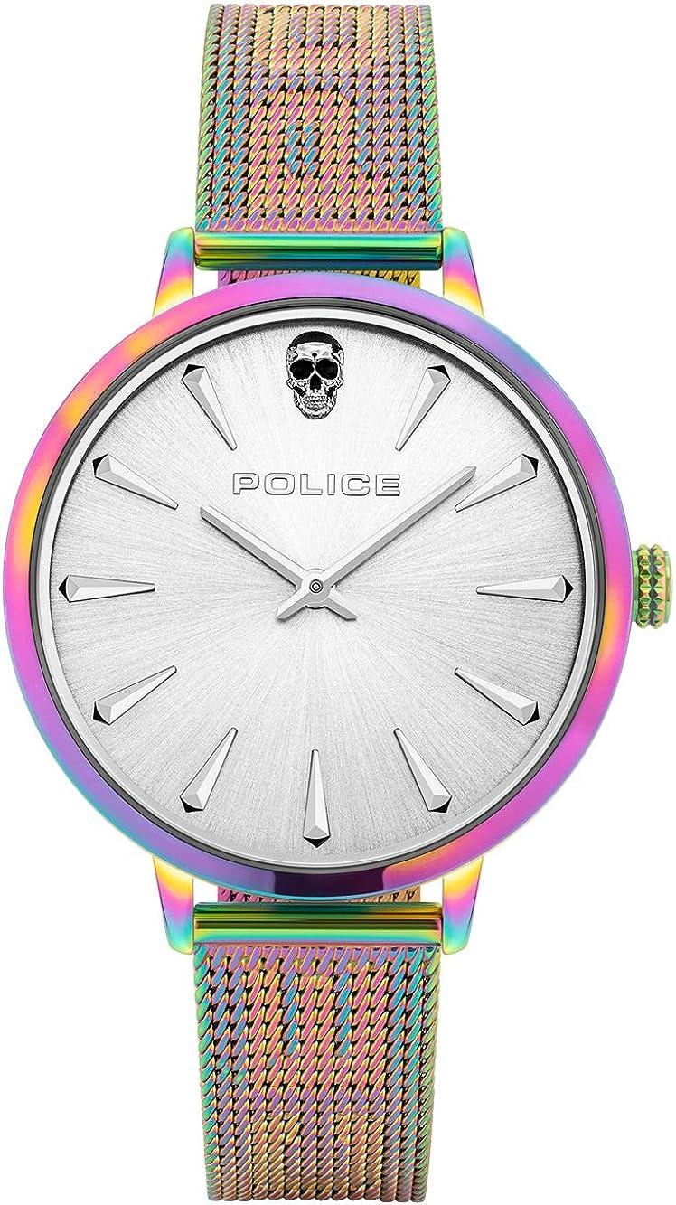 Police Reloj Analógico para Unisex Adultos de Cuarzo con Correa en Acero Inoxidable PL16035MSRW.04MM