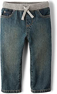 Boys Baby and Toddler Pull on Straight Jeans