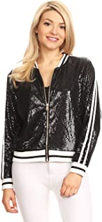 sequin jacket bomber