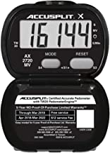 ACCUSPLIT Accelerometer Activity Tracker Pedometer with MVPA, Black