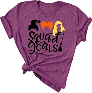 Squad Goals Sanderson Sisters Funny Halloween Hocus Pocus Classic Movie T-Shirt