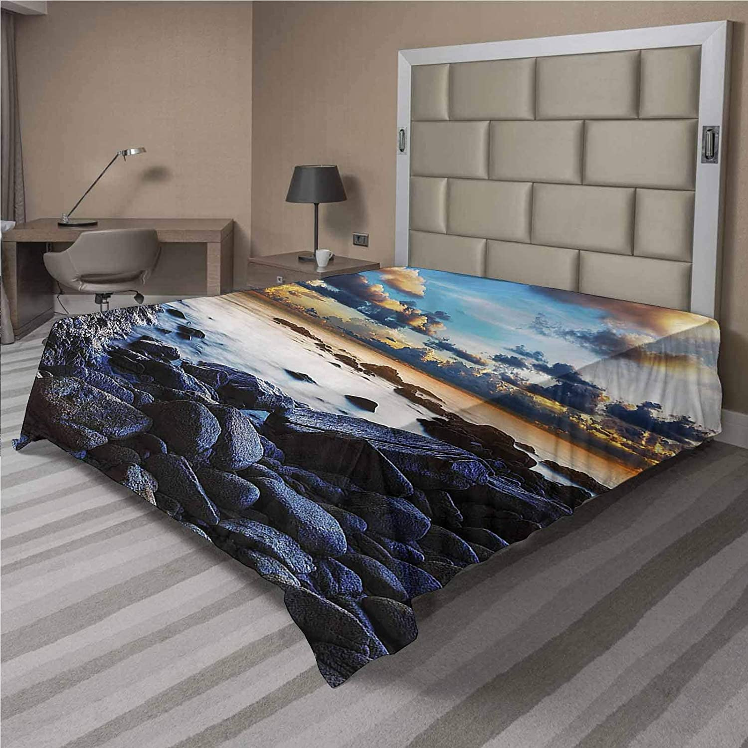 LCGGDB Ocean Flat Sheet Only Full Dark Time sale Micro In a popularity Clouds Brushed Moon