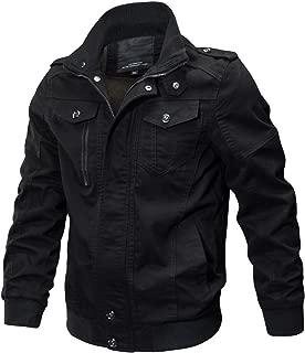 Men's Cotton Military Jackets Casual Outdoor Coat Windbreaker Jacket
