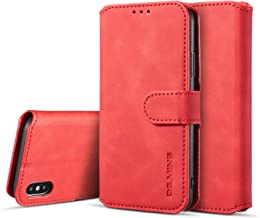 IPhone X Case, iPhone Xs Case iPhone X/XS Wallet Case, FM.HGQ PU Leather Flip Folio Case [Kickstand] Credit Card Slots [Magnetic][Protective][TPU Interior Case] for iPhone X/XS(5.8 inch) (Red)