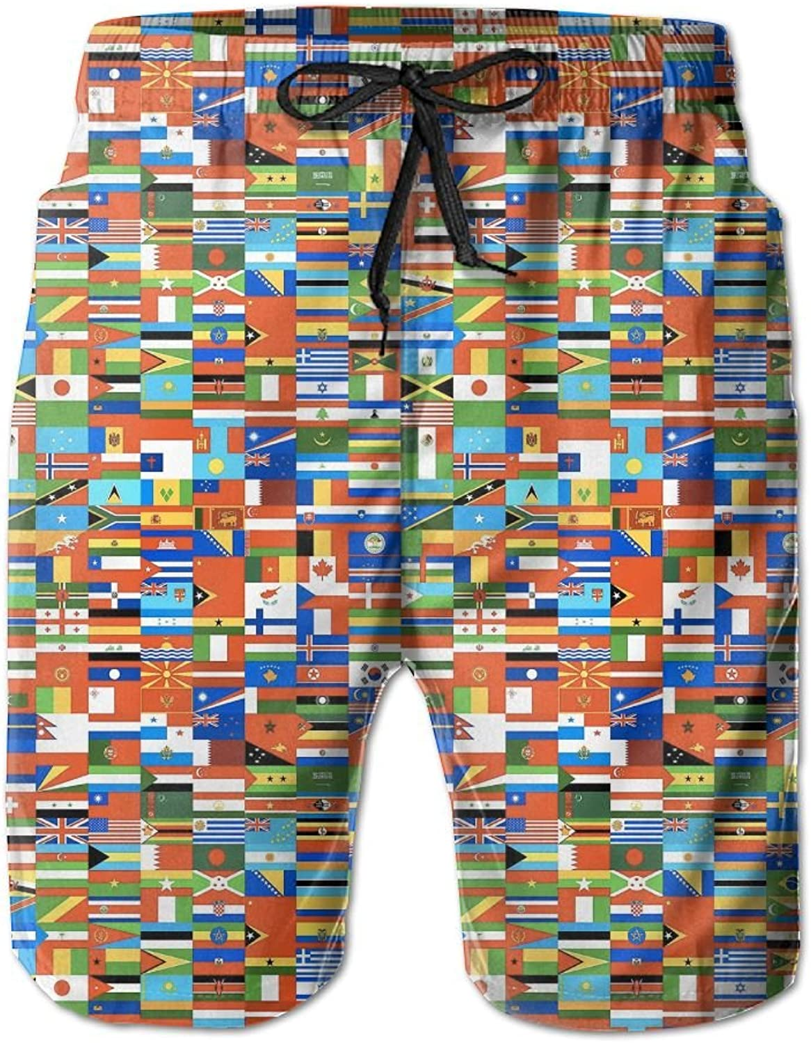 8b0ea404e9b50 Mens Mens Mens Quick Dry Beach Shorts Flags Of The World Floral Boardshorts  Swim Surf Trunks 1935bd