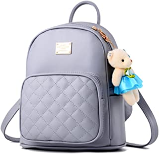 Amazon s Choice for mini backpacks · BAG WIZARD Leather Backpack Purse  Satchel School Bags Casual Travel Daypacks for Womens e18ea0cca4596