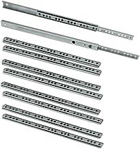 Emuca 5 paar (10 stuks) rails/rails met kogellagers gedeeltelijk uittrekbaar 5 paires - 310mm Verzinkt