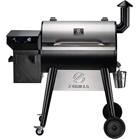 Z Grills ZPG-7002F2 2021 Upgrade Wood Pellet Grill & Smoker, 8 in 1 BBQ Grill with PID Controller, Meat Probes, Hopper Clean-Out & Pellet View Window, inch Cooking Area, 700 sq in Silver