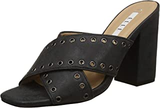 ELLE Women's Black Fashion Sandals-6 UK/India (39 EU) (HYD-D46)