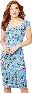 Joe Browns Women's Vintage Floral Dress with Milkmaid Sleeves Casual