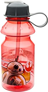Zak Designs Star Wars: The Force Awakens 14 oz. Water Bottle with Flip Straw, BB-8