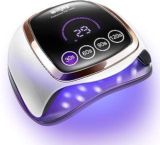 لامپ ناخن LED UV UV ، ناخن خشک کننده LED 168W UV برای ژل لهستانی با 4 تنظیمات تایمر ، سنسور خودکار و صفحه لمسی LCD ، لامپ لامپ پخت سبک ژل حرفه ای برای استفاده در سالن و خانه