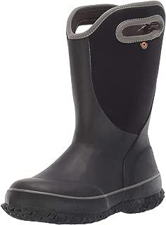 BOGS Unisex Slushie Snow Boot, Solid Black/Multi, 11 Medium US Little Kid
