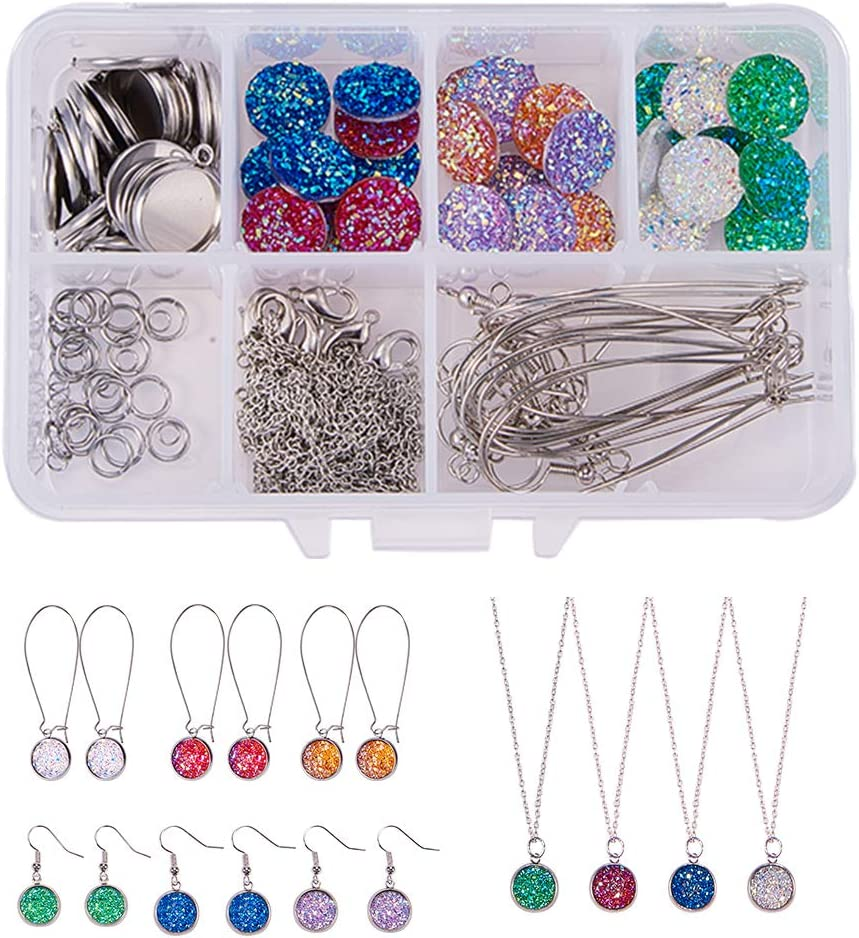 SUNNYCLUE 1 Box Time sale DIY 14Set Shipping included Druzy Making Jewelry Necklace Earrings