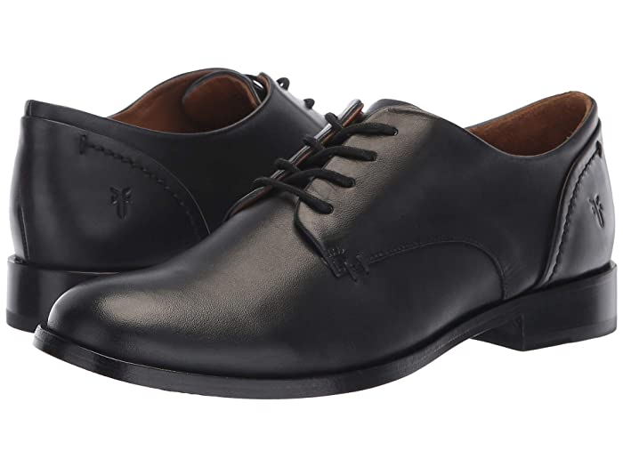 1920s Style Shoes Frye Elyssa Oxford Black Dip-Dyed Leather Womens Lace Up Wing Tip Shoes $227.95 AT vintagedancer.com