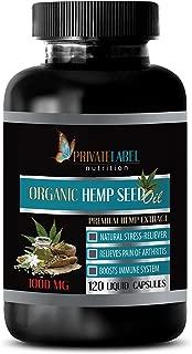 Pain Relief Capsules Natural - Organic Hemp Seed Oil 1000MG - Hemp Oil Extract softgels - 1 Bottle 120 Liquid Capsules