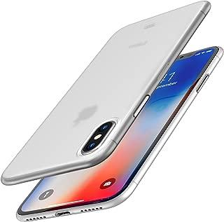 TOZO® iPhone X ケース iPhone 10 / X用 PP[0.35mm] 最軽量 最薄型 半透明 ハードケース マット質感[フロストホワイト]