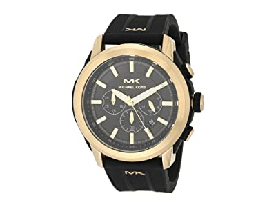 Michael Kors Kyle Chronograph Silicone Watch (Black) Watches