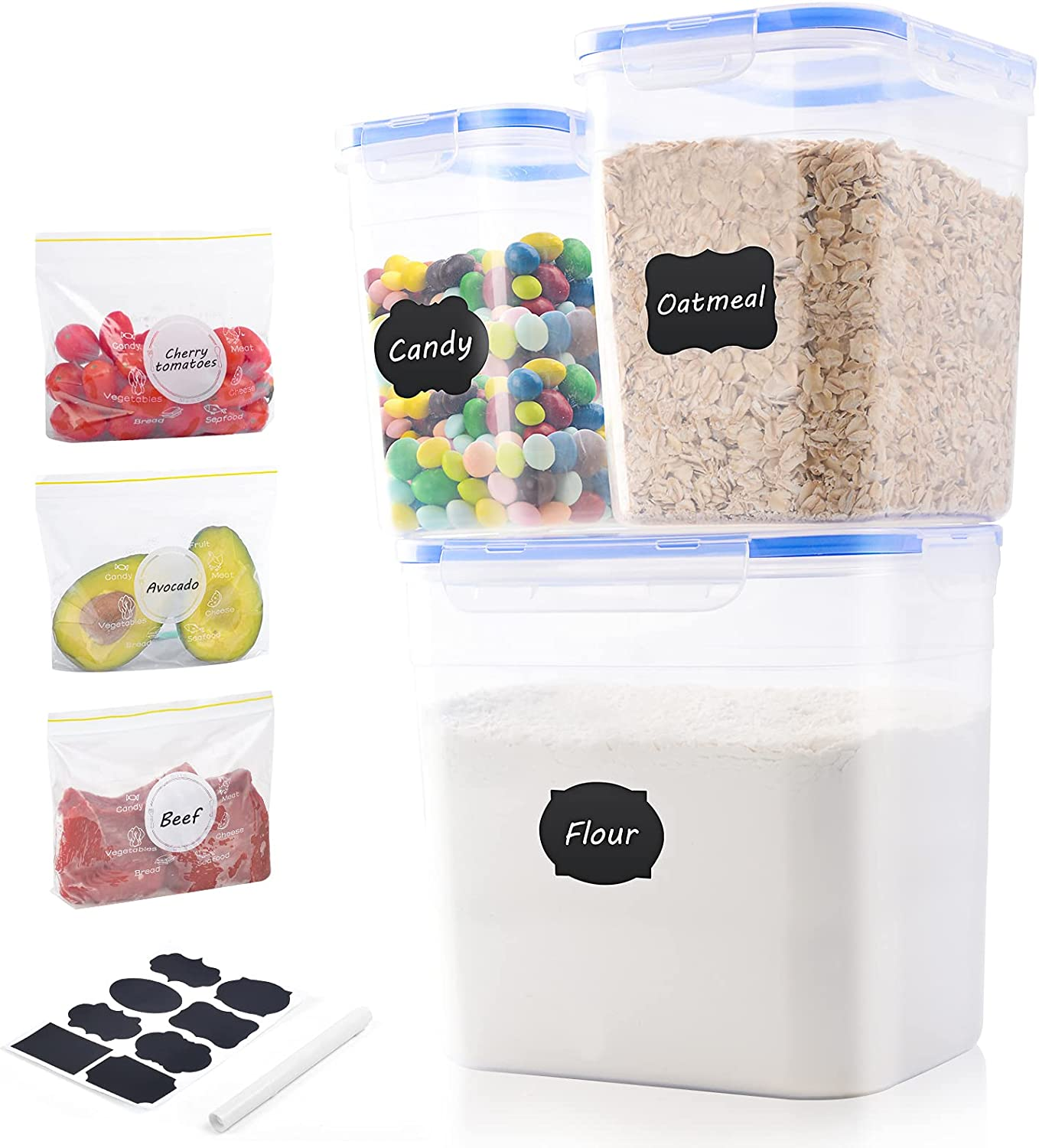 Food New products, world's highest quality popular! Storage Containers Sales for sale Set 3pcs containers 3Pack with cereal Re