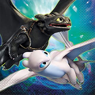Unique How to Train Your Dragon 3 Lunch Napkins | 6.5 Inches | 16 Ct.