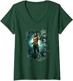 Womens Aquaman Movie Marine Life V-Neck T-Shirt
