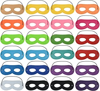 24pcs Superhero Felt Masks for Kids Party Cosplay Superhero Masks with Elastic Rope Party Favors Mask for Birthday Gifts (Multicolor)