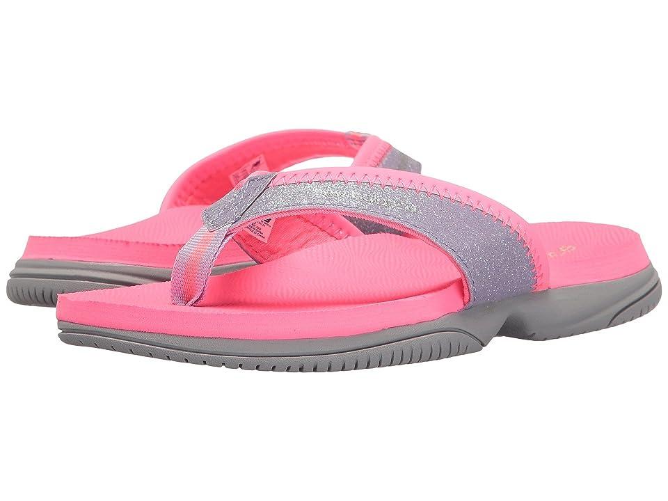 New Balance Kids JoJo Thong (Little Kid/Big Kid) (Pink/Grey) Girls Shoes