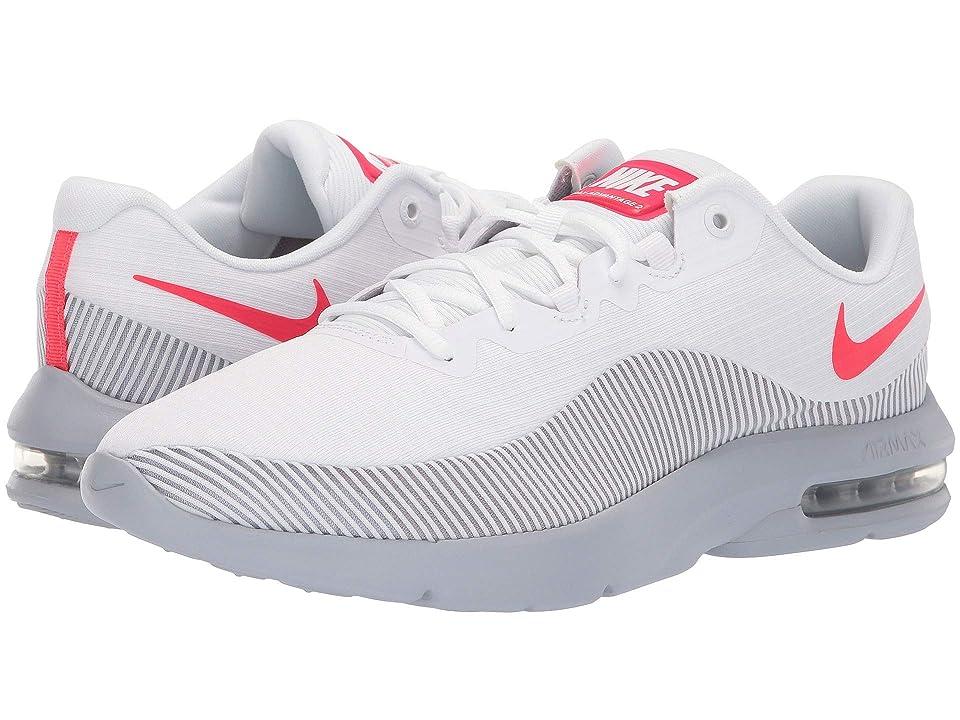 Nike Air Max Advantage 2 (White/Red Orbit/Wolf Grey) Men's Running Shoes, Black