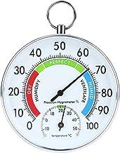 Goshyda Termómetro higrómetro, higrómetro de Invernadero de aleación de Aluminio con Anillo Colgante para la plantación de invernaderos Interiores domésticos