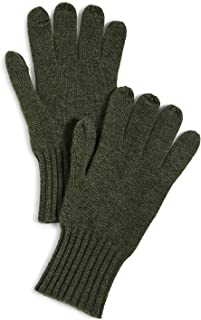 Women's Cashmere Texting Gloves, Olive, Green, One Size