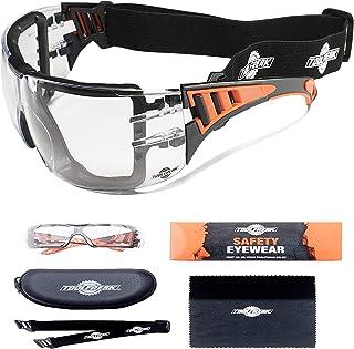 Gafas de Protección ToolFreak Con Transparente Lentes y Relleno de Espuma de Estilo Deportivo Para Hombres y Mujeres | Gafas Protectoras con Lentes y Montura Envolvente y Resistente a los Impactos