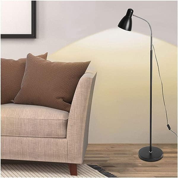 LED Floor Lamp Super Bright Floor Lamp Light Daylight With Stand For Desk Reading Living Black