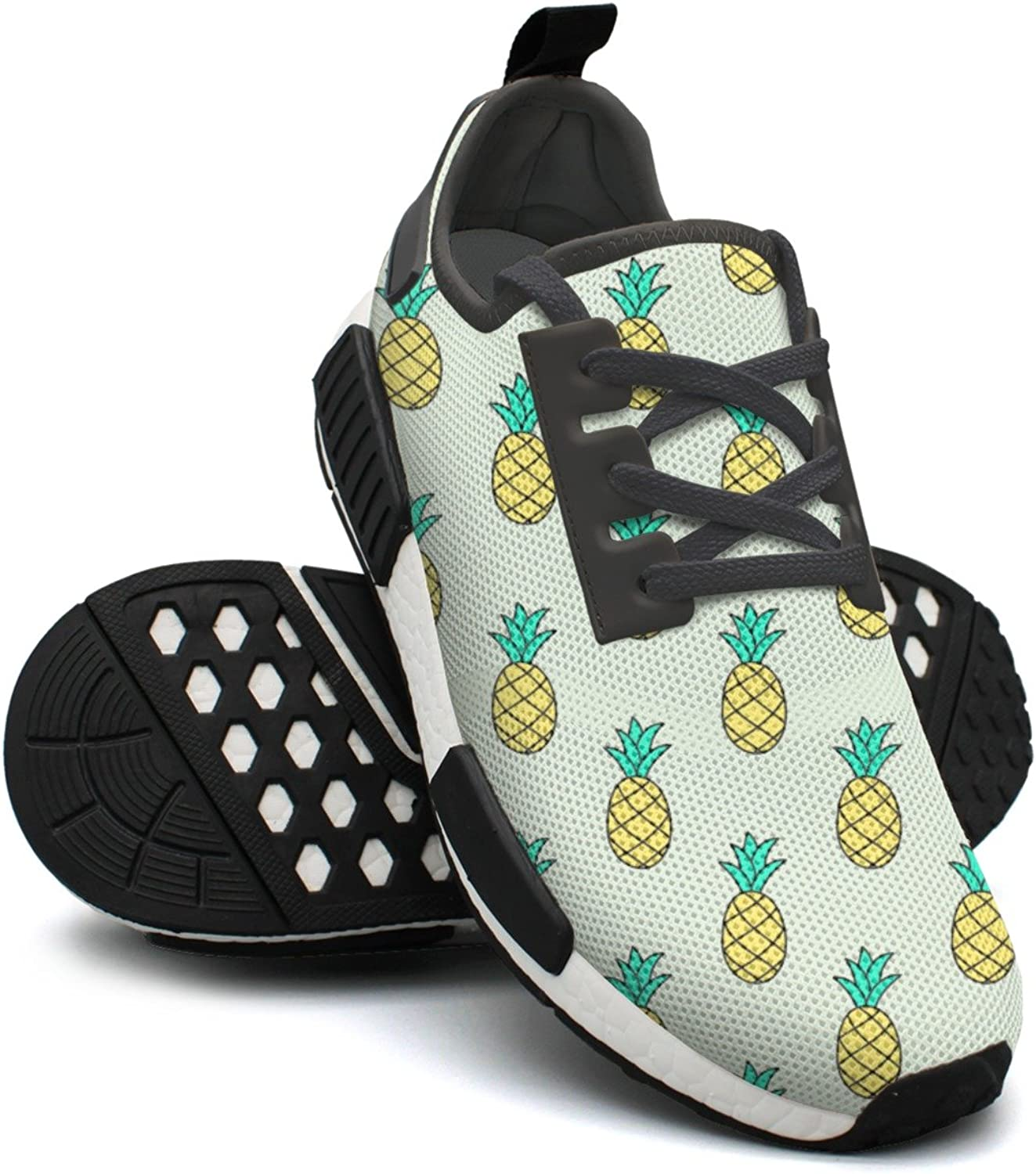 Hand-Drawn Pattern with Pineapple Women's Cute Lightweight Running Sneakers Gym Outdoor Basketball shoes