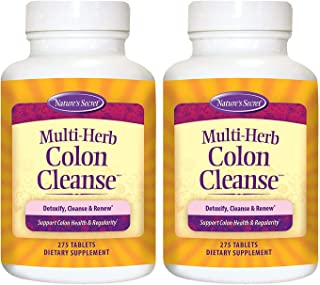 Multi-Herb Colon Cleanse by Nature's Secret | Supports Digestive Health and Regularity, 275 Tablets (Pack of 2)