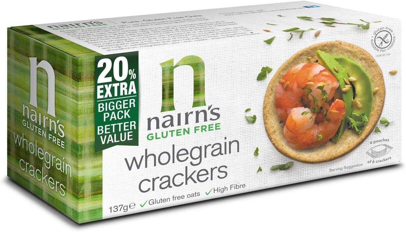 Nairn's Gluten 100% quality warranty Max 63% OFF Free Wholegrain Cracker g 114 1 x
