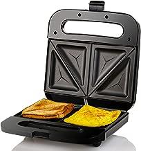 Ovente GPS401B Sandwich Maker Non Stick Electric Grill, 750W, Black, 2-Slice