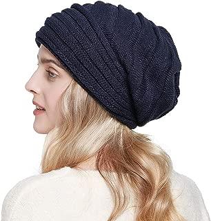 SOMALER Knit Slouchy Beanie Hats for Women Oversized Warm Winter Hats Baggy Ski Cap