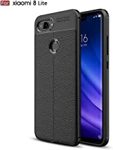Xiaomi Mi 8 Lite Case, Cruzerlite Flexible Slim Case with Leather Texture Grip Pattern and Shock Absorption TPU Cover for ...